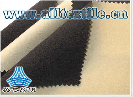 Waterproof all cotton elastic stretch + elastic fleece compound fabric